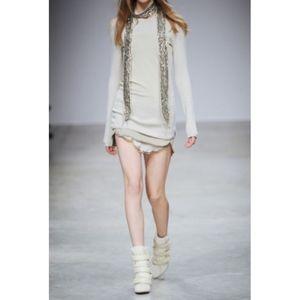 ISABEL MARANT Ascah paneled wool blend sweater 40